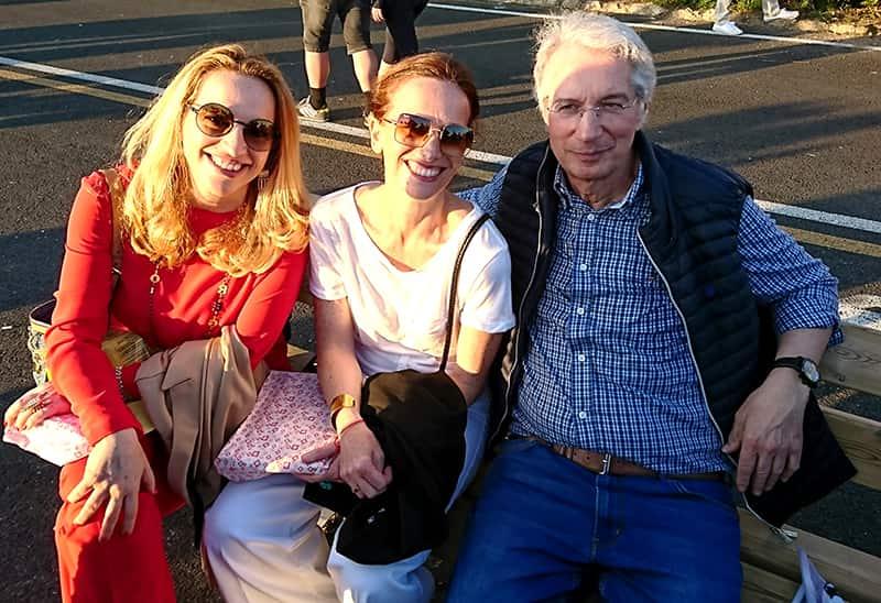 Maurizio De Angelis, Diamante und Christiana Pedersoli als Gäste in Livorno