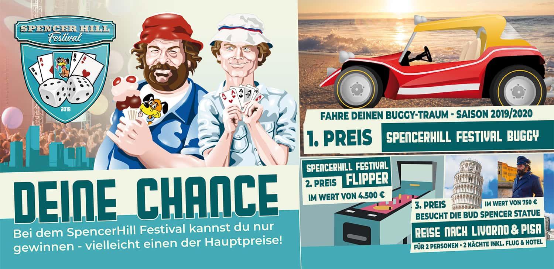 Spencerhill Festival Gewinnspiel, Buggyfahrt, Flipper und eine Reise