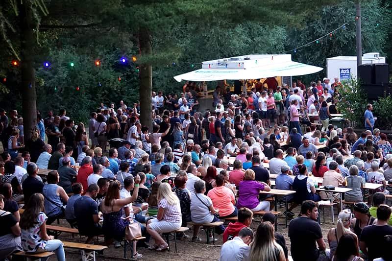 Publikum beim Sommerfest in Lommatzsch