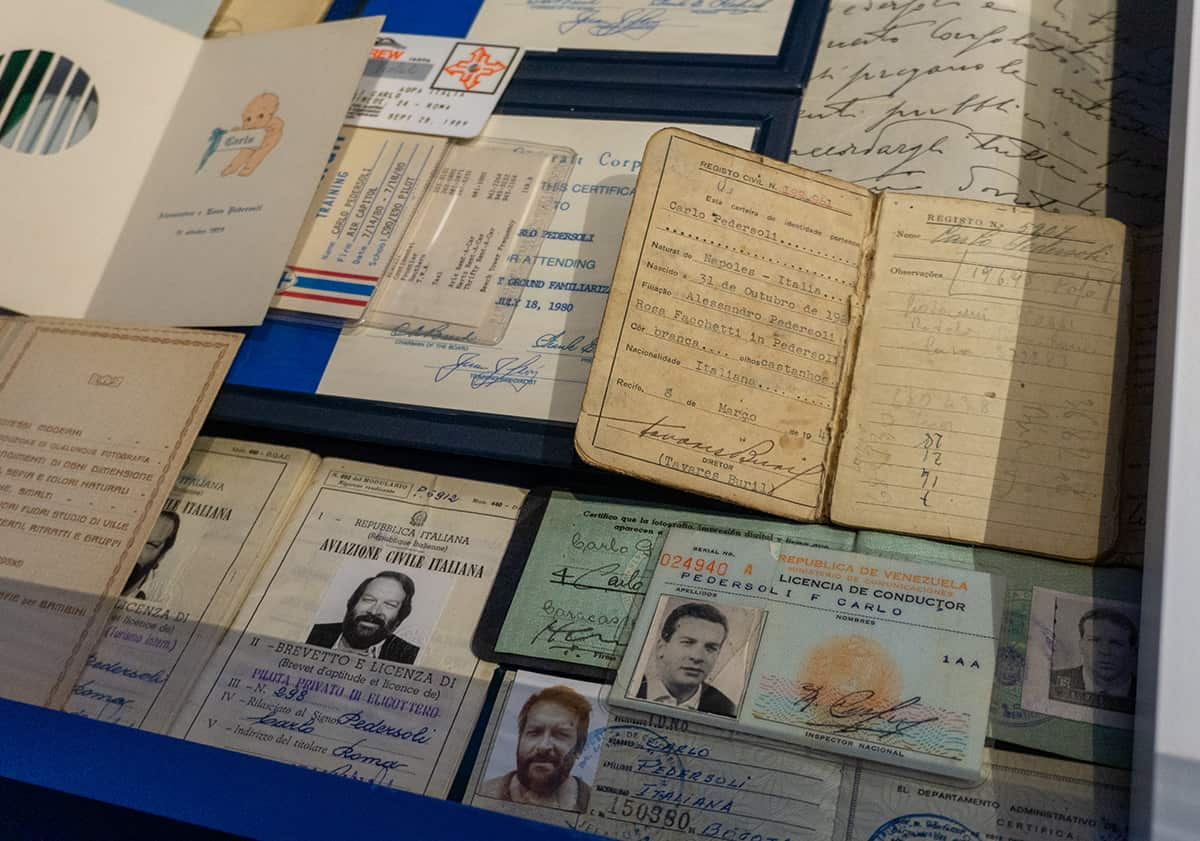 Bud Spencer Museum - Ausweisdokumente von Bud