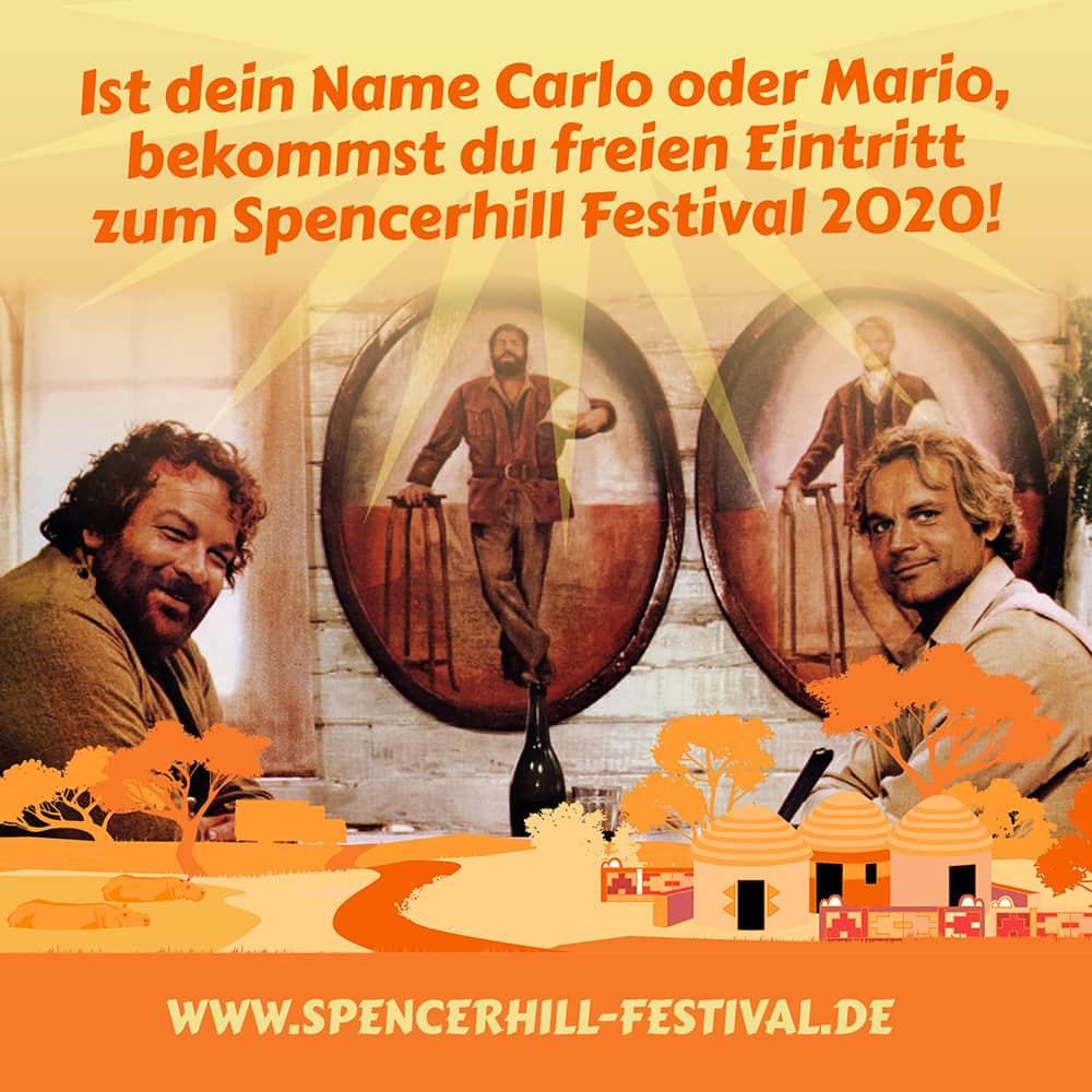 Carlo und Mario kommen Gratis auf das Spencerhill Festival 2020