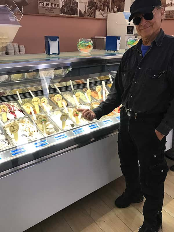 Terence Hill in der Gelateria Girotti