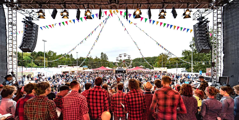 Der Bud Spenzer Heart Chor auf dem Spencerhill Festival 2018 in Lommatzsch