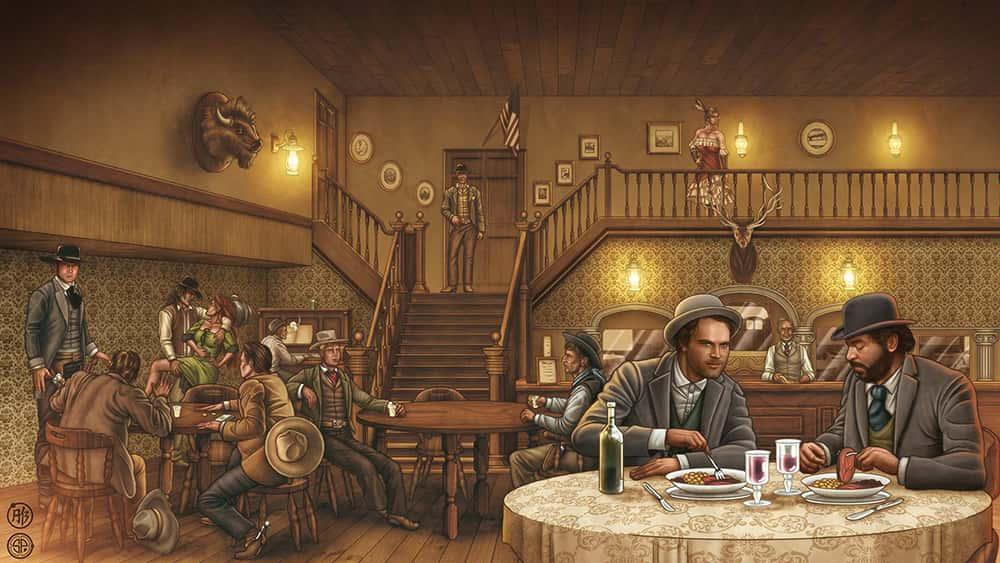 Bud Spencer und Terence Hill Zeichnung