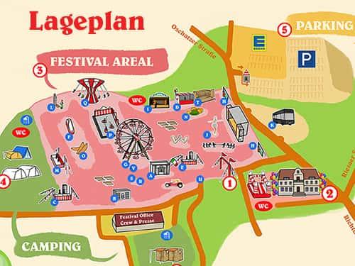 Lageplan Spencerhill Festival