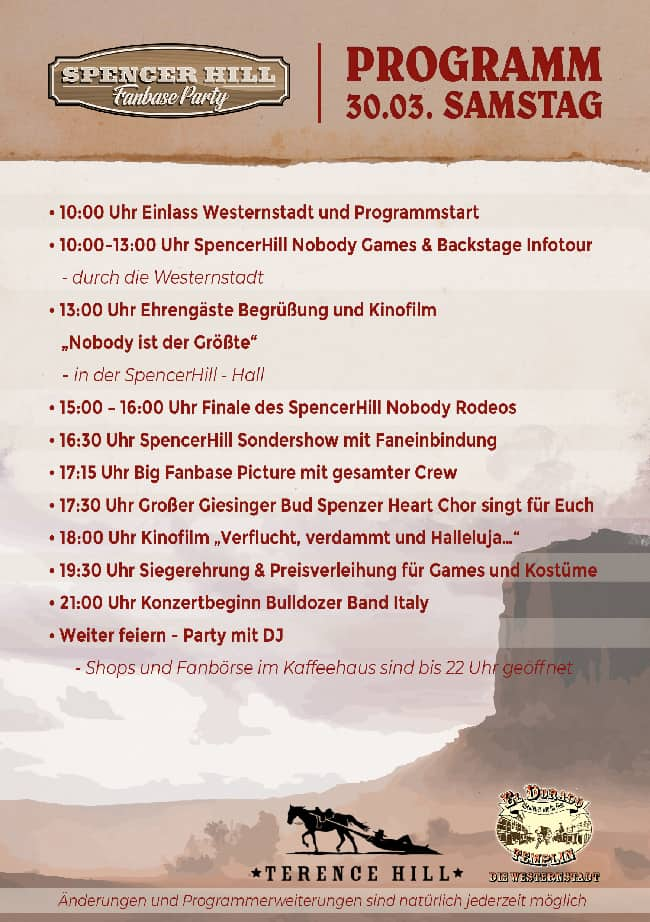 Samstag Programm Fanbaseparty